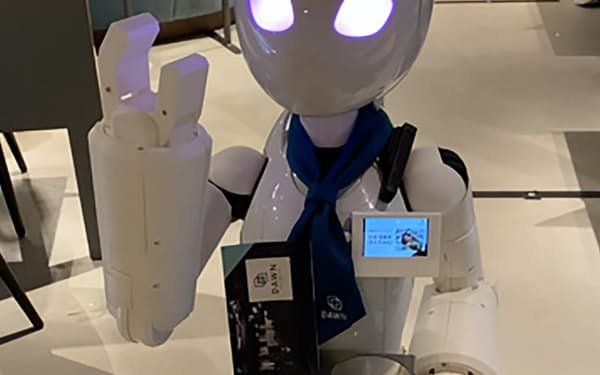 DAWNではハンディキャッパーがロボットのパイロットとしてはたらいている