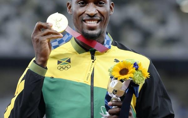 会場を間違えたが、陸上男子110メートル障害で金メダルを獲得したジャマイカのハンスル・パーチメントのSNSも話題になった