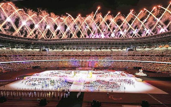SNSでメッセージを発信したパラアスリートも少なくなかった(東京パラリンピックの閉会式、5日)