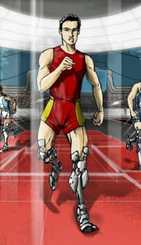 16年10月に開催される「サイバスロン」における強化型義足レースをイメージしたイラスト