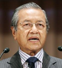 国際交流会議「アジアの未来」に出席したマハティール元首相(2012年5月、東京都千代田区)