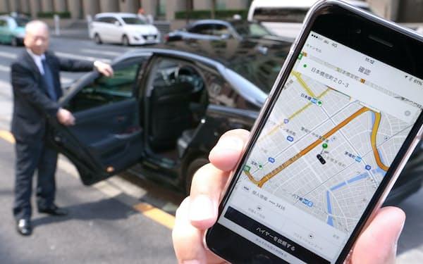 日本では、配車アプリで呼べるのはタクシーやハイヤーに限られる