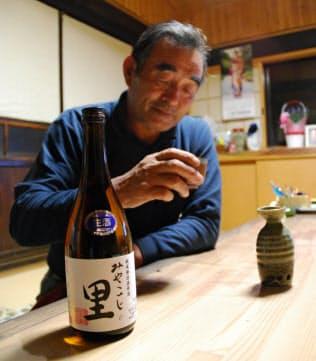 福島県田村市都路地区の農家、小林さんらは日本酒造りに取り組んでいる