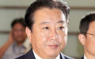 首相官邸に入る野田首相(2012年9月10日)