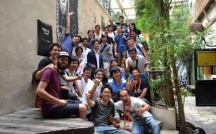 イベント終了後、記念撮影した日本使節団(イスラエルのテルアビブ市)