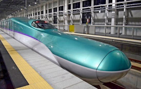 北海道新幹線は3月26日に開業する(北海道北斗市)