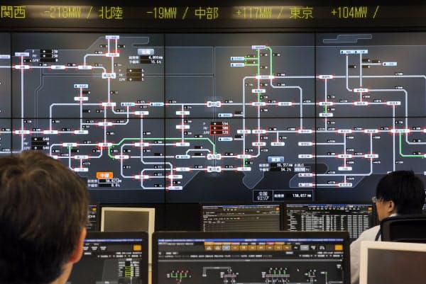 電力広域的運営推進機関の広域運用センター(都内)