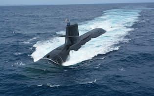 日本勢が豪で受注を目指していた、そうりゅう型潜水艦(海上自衛隊提供)