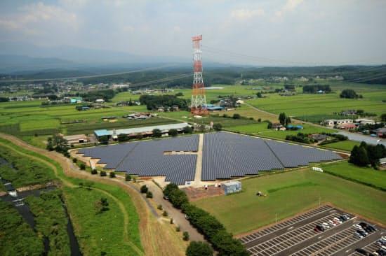 タカラレーベンの太陽光発電所(栃木県塩谷郡)