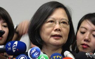 2015年10月の訪日時には蔡英文氏と安倍晋三首相の「密会」が取り沙汰された(自民党本部で)