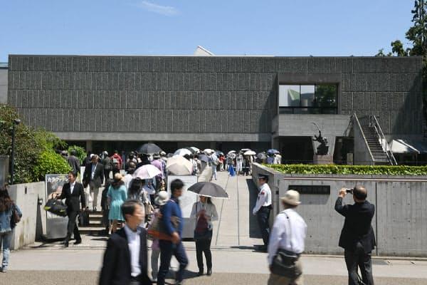 世界遺産への登録がほぼ確実となった国立西洋美術館(18日、東京都台東区)