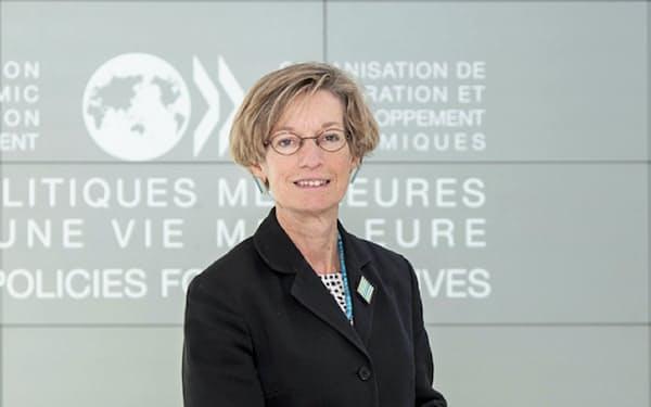 経済協力開発機構(OECD)のチーフエコノミスト、キャサリン・マン氏(OECD提供)