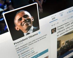 オバマ米大統領のツイッターアカウント。President Obamaの下に@POTUSとある