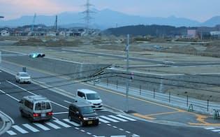 総合1位となった宮城県富谷町。宅地の造成工事が進む
