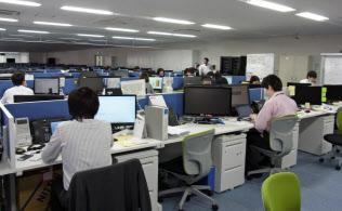 ABSの東日本管理センターでは近く横浜銀行のATMの監視も行う(横浜市)