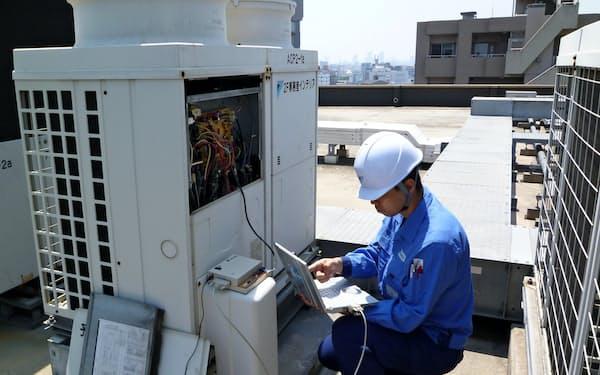 ダイキンはエアコンの保守点検を通じて顧客への省エネルギー提案に力を入れる