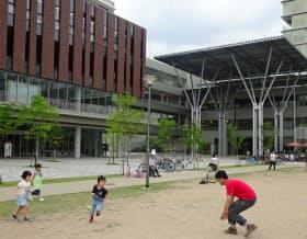 立命館大学大阪いばらきキャンパスには公園もある(大阪府茨木市)