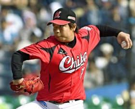 松永は横手投げに近い、低い位置から腕が出てくるサウスポー。それでも左打者限定の起用ではない=共同