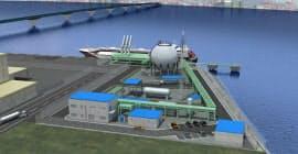 神戸の空港島に実証用の基地ができる(イメージ)=CO2フリー水素サプライチェーン推進機構提供