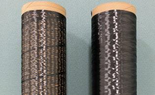 新製法の炭素繊維は製造エネルギーが半分に(東京大学の影山和郎教授提供)