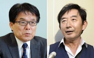 増田寛也元総務大臣(写真左)、タレントの石田純一さん(同右、共同)
