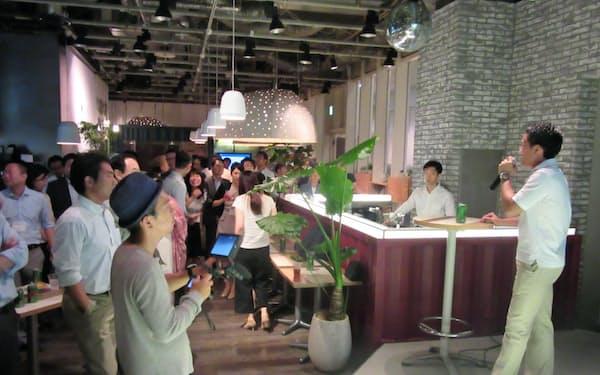 三井物産OBによる交流イベント「元物産会」には約250人が所属している(東京・渋谷)