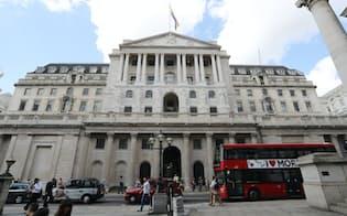 ロンドンにあるイングランド銀行の本店