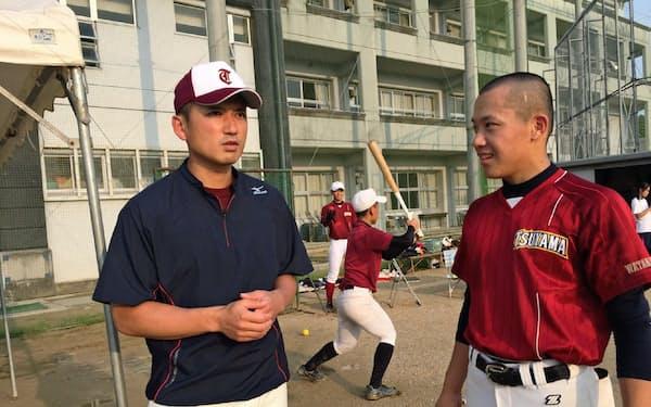 浮田監督は米マイナーリーグなどでプレーし、球団での通訳やイチローらを取材した経験を持つ(浮田監督提供)
