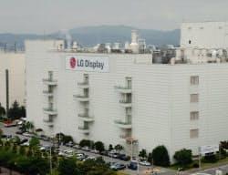 LGディスプレーは積極投資で有機ELパネルを増産する(韓国・亀尾工場)