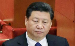 「海洋強国」を掲げる習近平国家主席(3月の全国人民代表大会で)=撮影・小高顕記者