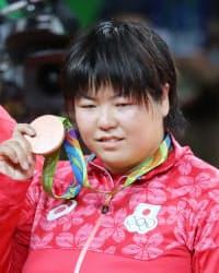 柔道女子78キロ超級で銅メダルを獲得した山部=写真 玉井良幸