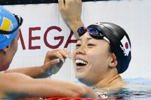競泳女子200メートルバタフライで銅メダルを獲得した星奈津美=写真 柏原敬樹