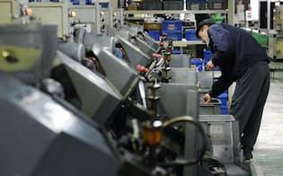 精密ネジを製造する工場(神奈川県綾瀬市)