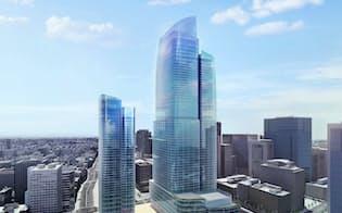 三菱地所が東京駅前に建設を計画する超高層ビル完成イメージ