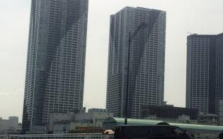中古マンションの市場価格は調整局面入りしたという見方もある(東京都中央区)