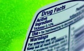 米食品医薬品局(FDA)が販売禁止にする、トリクロサンを含むせっけん=AP