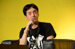 メルカリの山田進太郎社長は「市場を押さえるためには海外展開が重要」と位置付ける(6日、東京・渋谷)