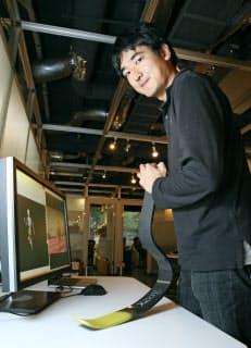 遠藤は競技用義足の会社を設立し、開発を続けてきた(東京都品川区)