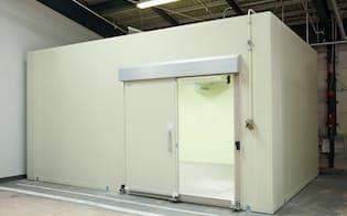 日軽金HDではグループ会社の連携を深めている。倉庫に置くプレハブ冷蔵庫などの販売好調に結び付いた