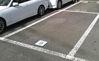 パーク24が始めた駐車場シェアの新サービスを提供しているスペース(東京・品川)