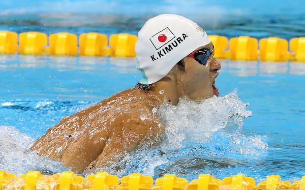 木村は男子100メートル平泳ぎで銅。睡眠がうまく取れぬなど「(後半は)きつかった」と語った=寺沢将幸撮影