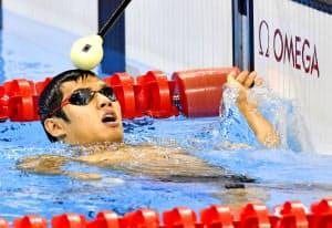 連日メダルを獲得した木村。最も得意な競泳100メートルバタフライでは銀に終わった=共同