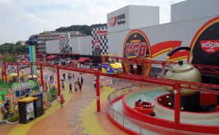 よみうりランドは新エリア「グッジョバ!!」の開業に合わせてチケットを大幅に値上げした(東京都稲城市)