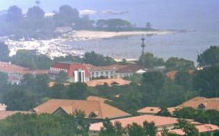 「北戴河会議」の開催地とされる保養地(9月3日、中国河北省北戴河)=共同