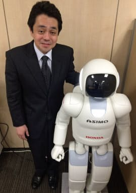 アシモの現行モデルを開発した本田技術研究所の重見聡史執行役員