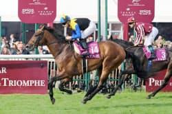 フランス競馬の第95回凱旋門賞で、日本馬初制覇を逃したマカヒキ=14(2日、パリ近郊のシャンティイ競馬場)=共同