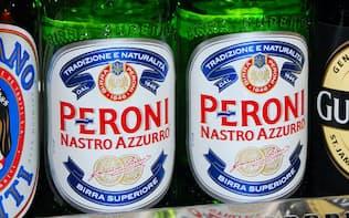 アサヒグループHDが買収する「ペローニ」のビール(東京都豊島区の東武百貨店池袋店)=共同