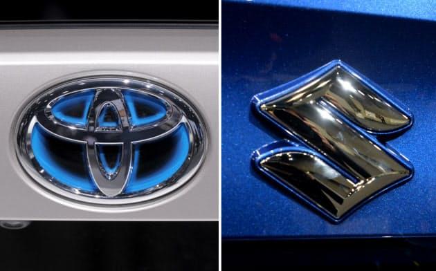 トヨタ自動車とスズキのロゴ