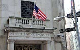 6日の米株式相場は荒い動きが続いた(写真はニューヨーク証券取引所)