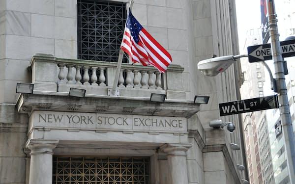 ニューヨーク証券取引所 ウォール街 株価